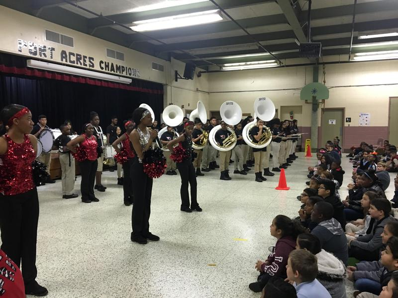 Lincoln MS Band & Dance Visit Port Acres and Sam Houston Elementary Featured Photo