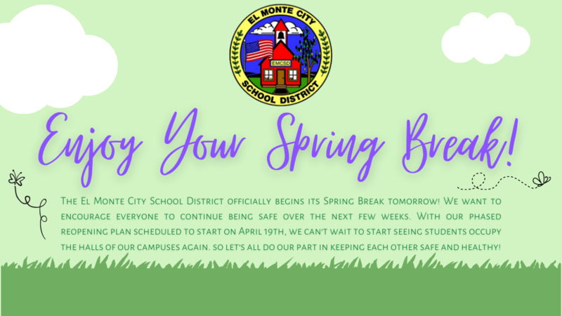 Enjoy your spring break graphic