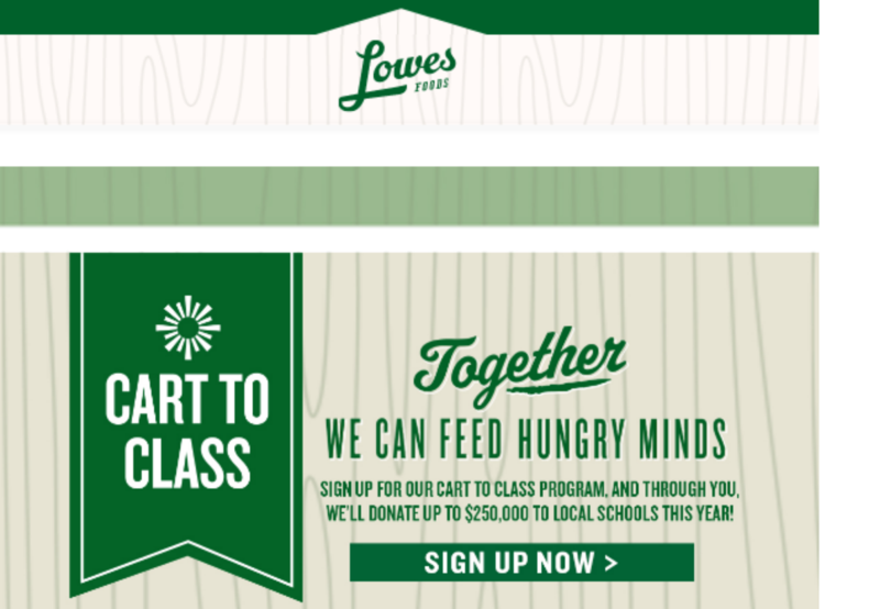 You Can Help Our School By Joining Lowes Foods Cart to Class Rewards! Thumbnail Image