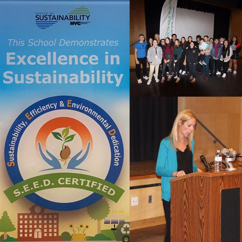 Maspeth High School Green Club Accepts GOLD S.E.E.D. Award Featured Photo