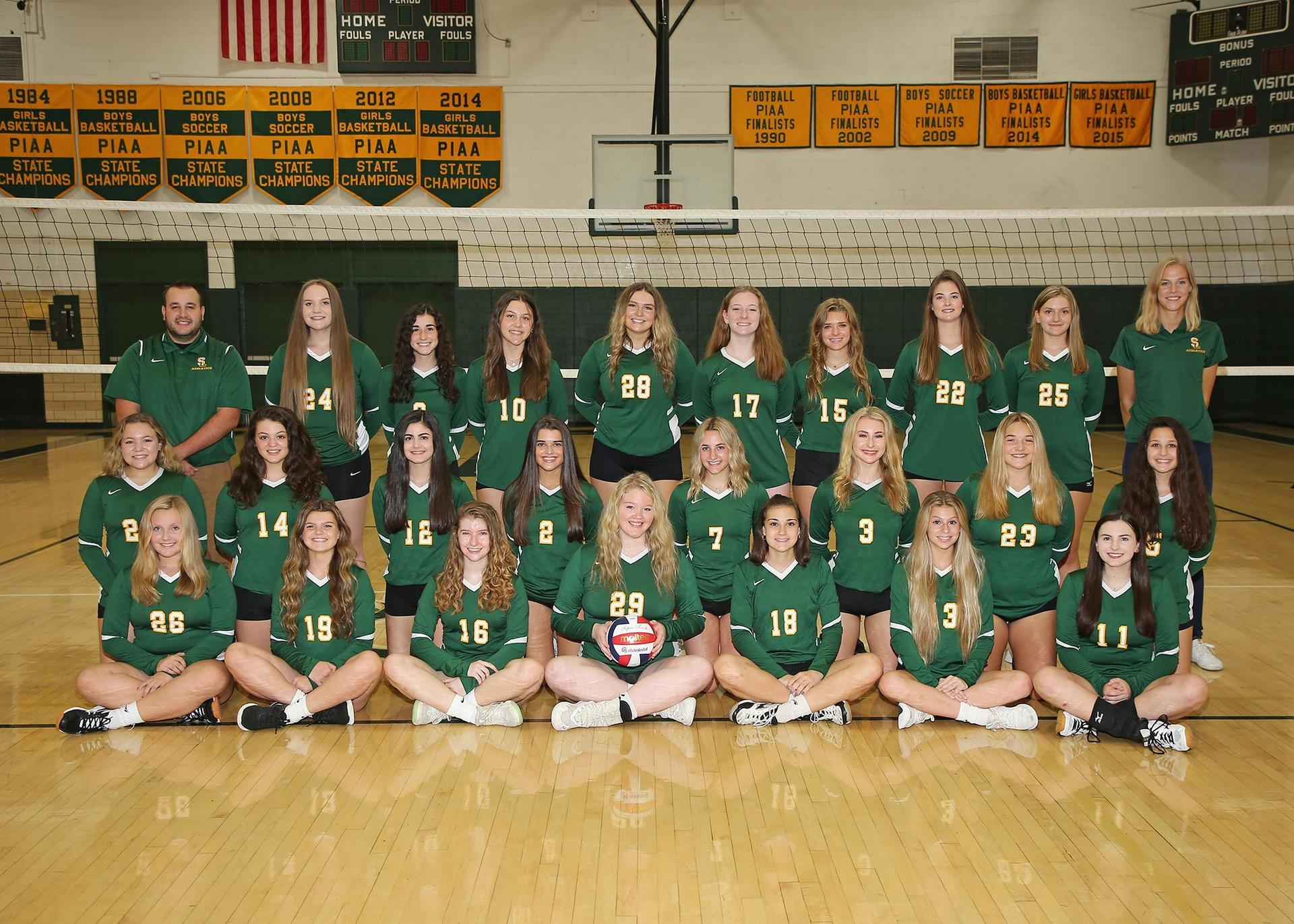 2020-21 Girls Volleyball team