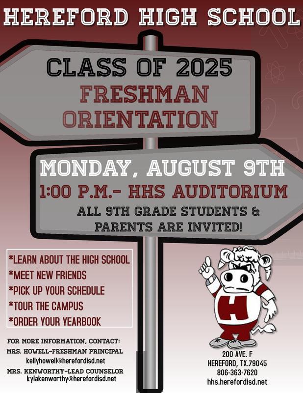 Freshmen Orientation Flyer