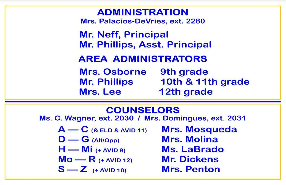Counselor Admin Assignments