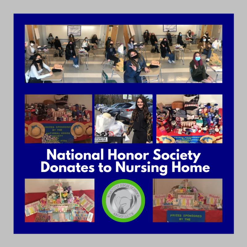 National Honor Society Donates to Nursing Home
