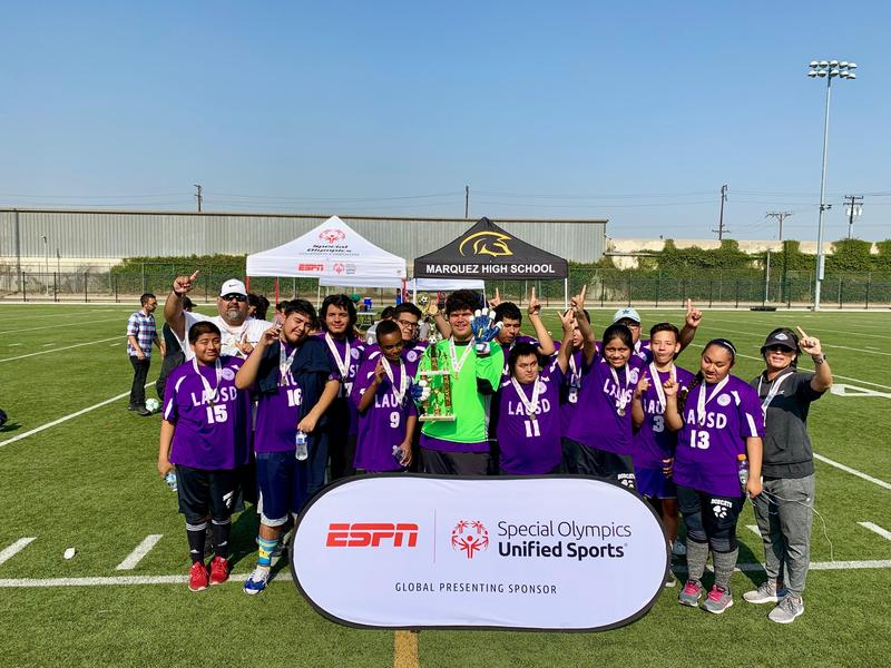 Our alternate curriculum students won the LAUSD Division 1 Soccer Tournament For Special Olympics Featured Photo
