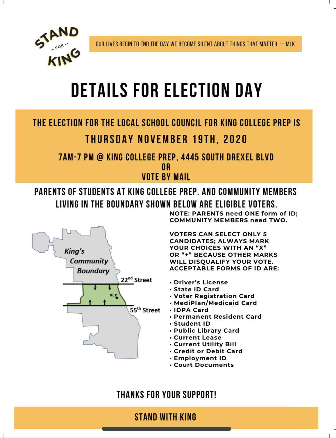 Details for election day