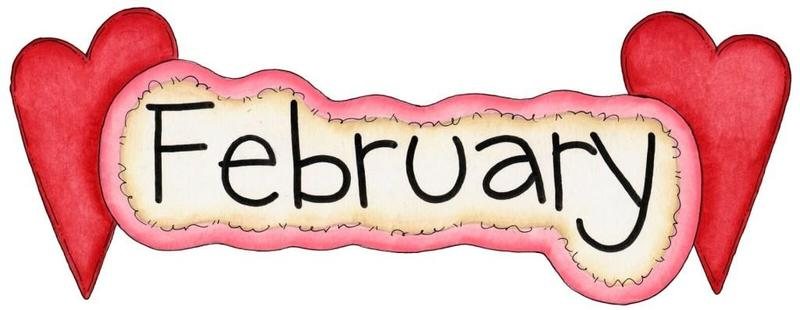 February with hearts