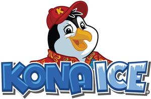 Cartoon image of a penguin with a red baseball cap with the words