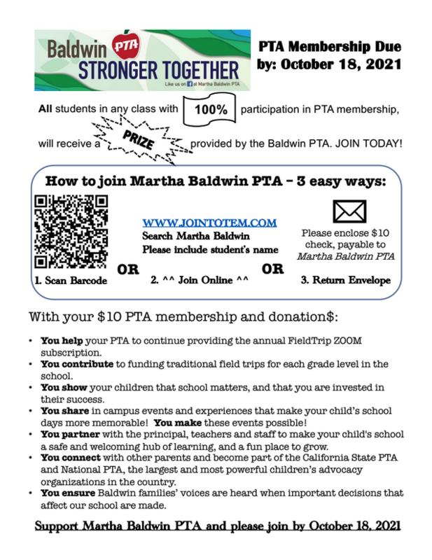 21-22 PTA Membership Drive Featured Photo