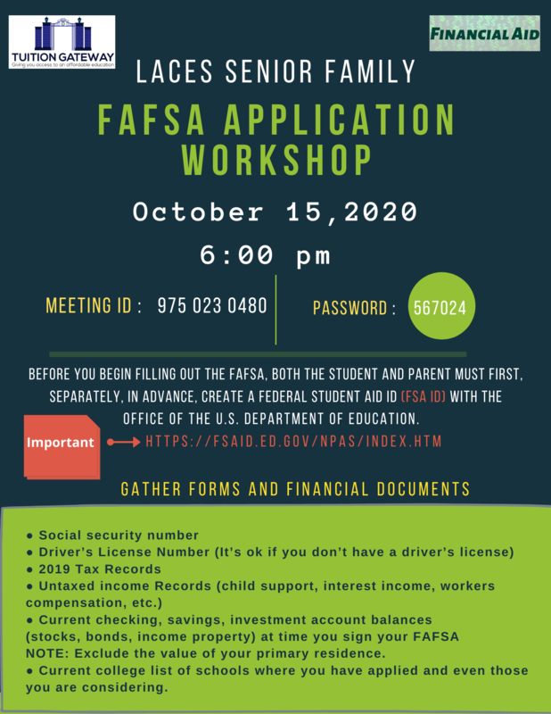 FAFSA Application Workshop Oct. 15th | 6PM Featured Photo