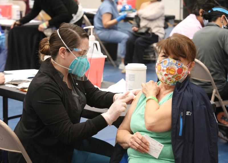 Nurses administered 1,000 Moderna vaccinations during a COVID-19 community vaccine clinic hosted by Edinburg CISD at Vela High School in Edinburg.