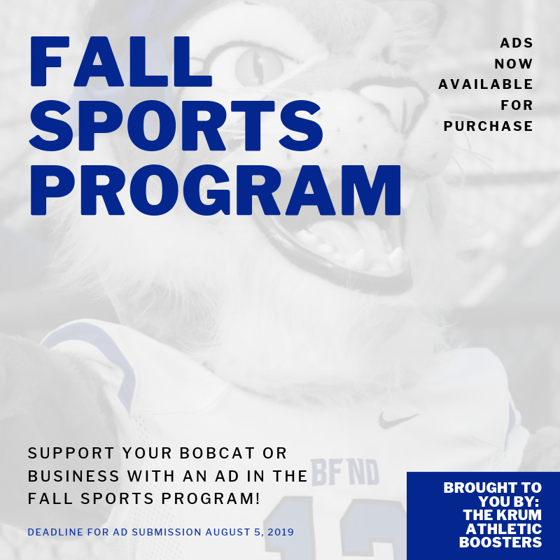 Ads Available for the Fall Sports Program Thumbnail Image