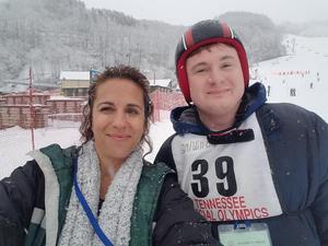 Harpeth High School Life Skills teacher Jennifer Copeland and Life Skills assistant Will Ethridge