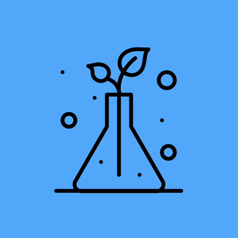 clip art of science beaker with branches growing out of it.