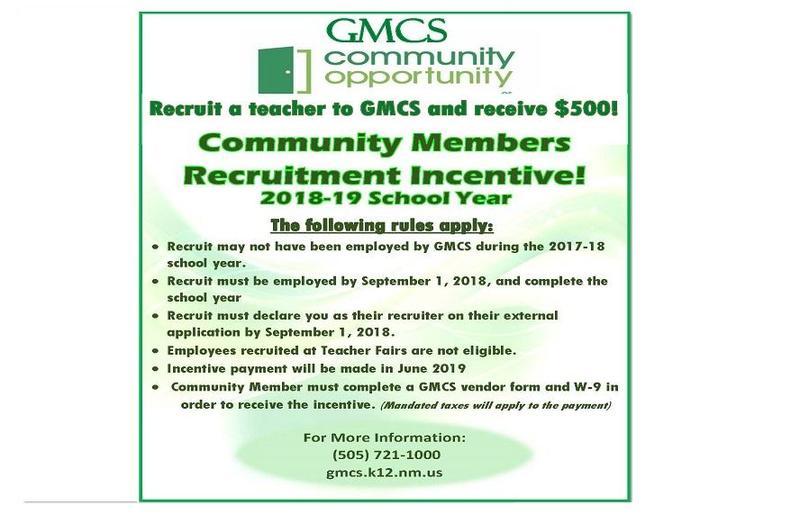 Community Recruitment Incentive