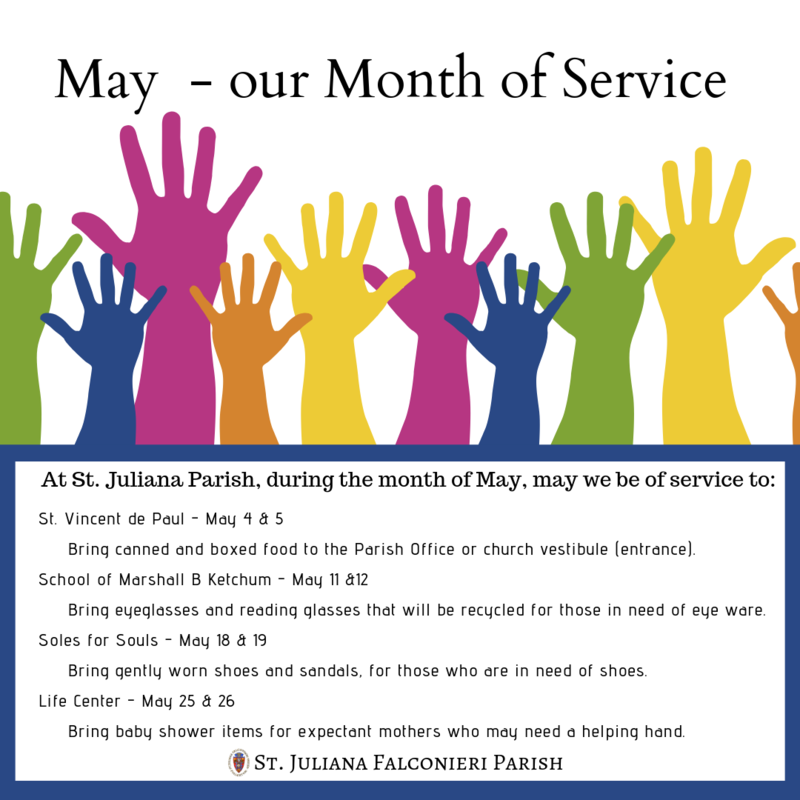 May - Our Month of Service Featured Photo