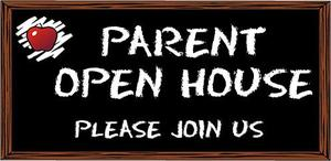 Parent Open House with apple