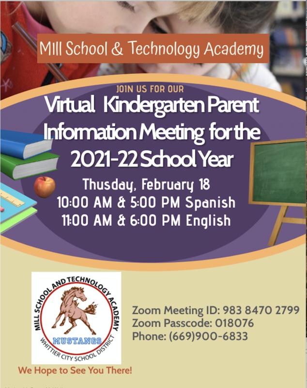 Virtual Kindergarten Parent Information Meeting