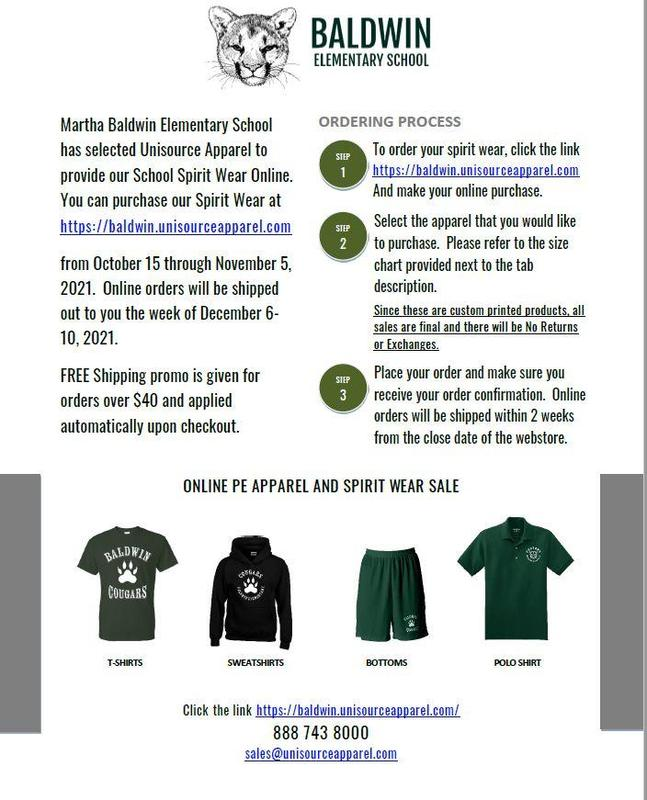 Buy your Baldwin Gear Now!!! October 15th - November 5th Featured Photo