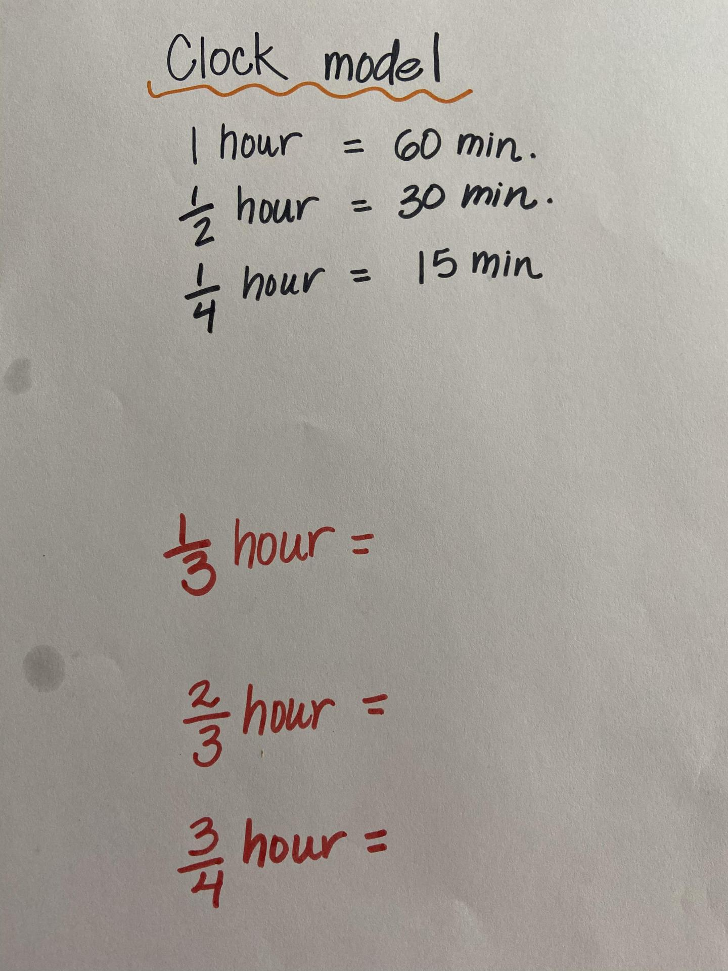 clock fractions