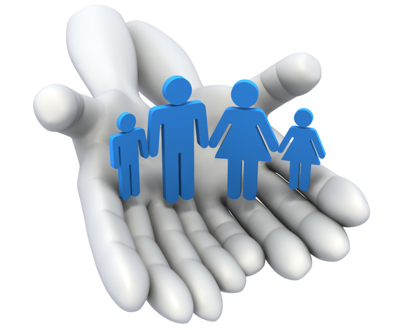 hand holding a family