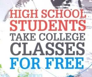 quote: high school students take college classes for free