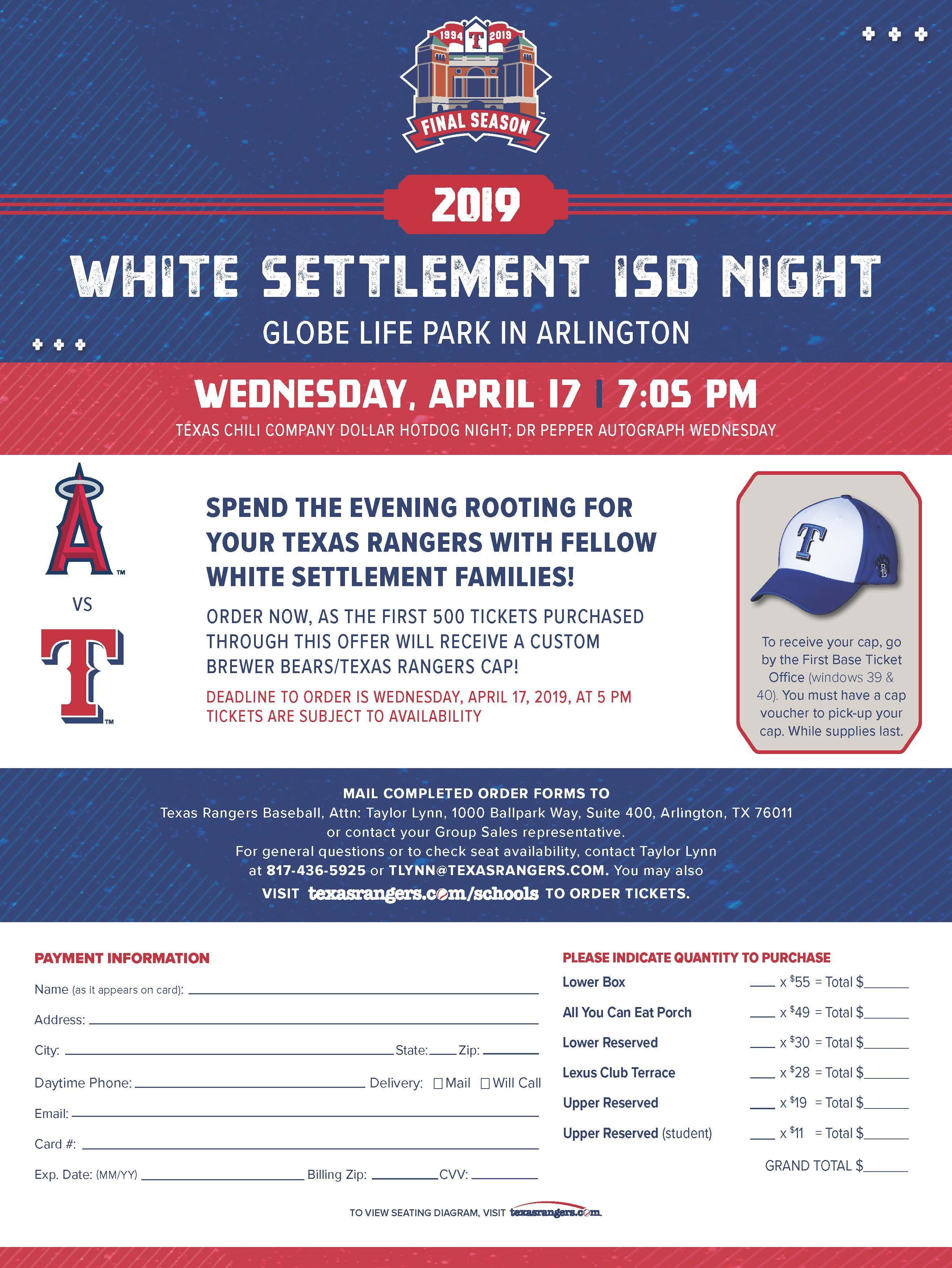 WSISD Night at the Texas Rangers Game