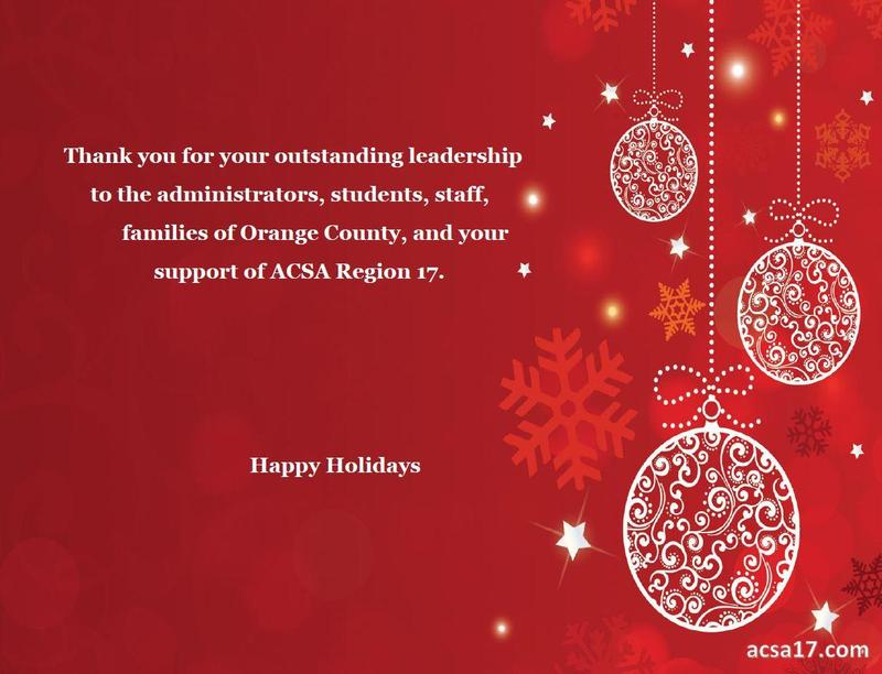 Happy Holidays from ACSA Region 17 Featured Photo