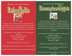 Flyer for Toy Drive