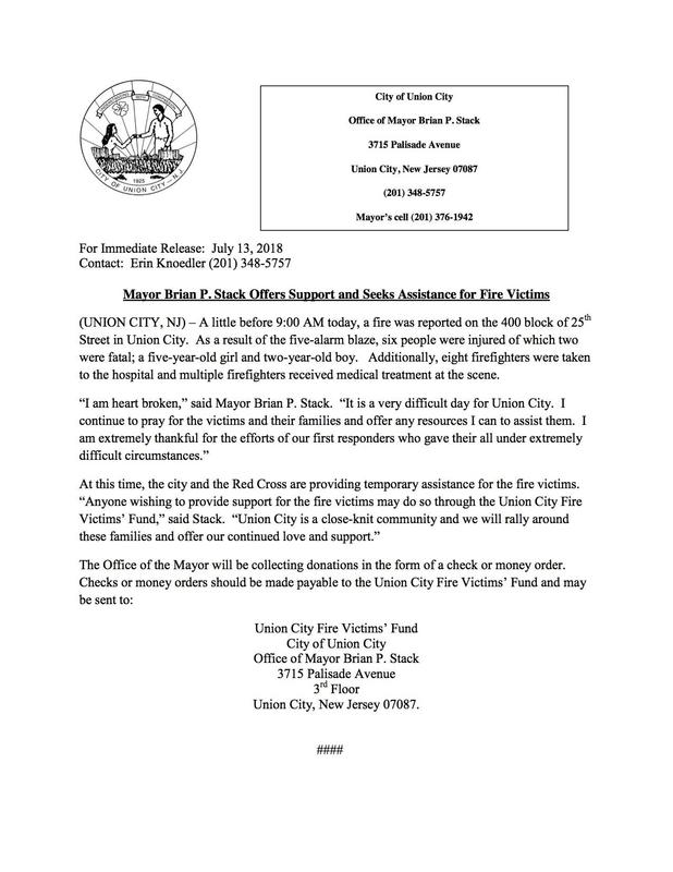 Fire Victims Relief Letter