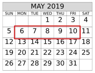 Week of May 6, 2019