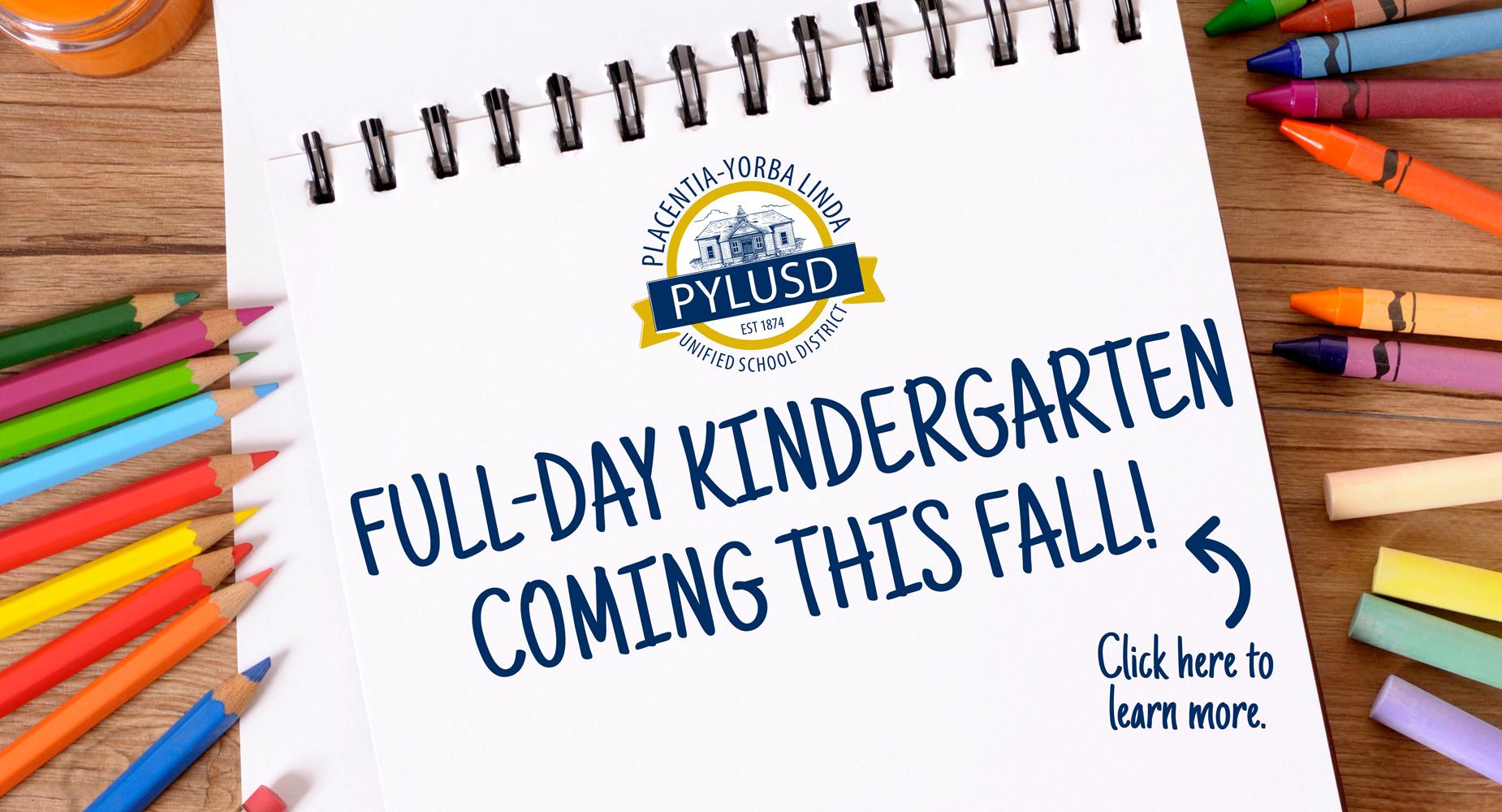 PYLUSD full-day kindergarten graphic.