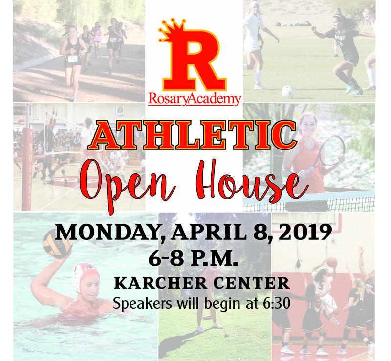 Athletic Open House - Monday April 8, 6:00 p.m. Featured Photo