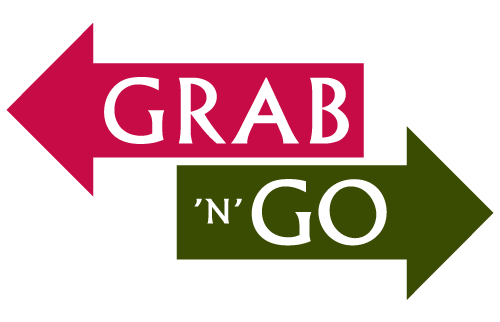 two arrows, one says grab and the other says go