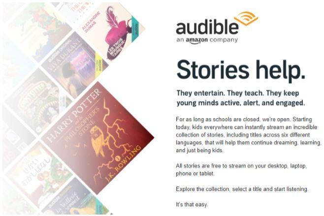 Instructions for accessing Free books at Audible