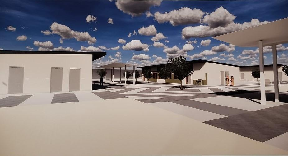 Photo of completed construction of new elementary classrooms.