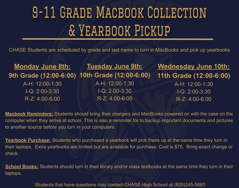 9-11 Grade Macbook Collection and Yearbook Distribution Featured Photo