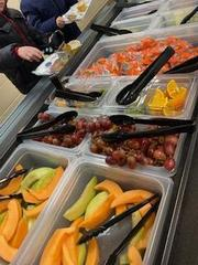 Fruit side of our new Fruit and Veggie Bar!