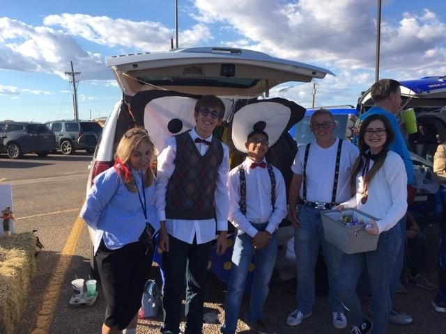 Speech and Debate trunk at NHS Trunk or Treat.