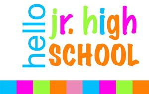 Hello Jr. high School graphic.