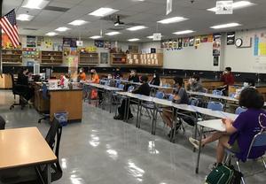 SPMS Science Teacher Eva Muniz's classroom