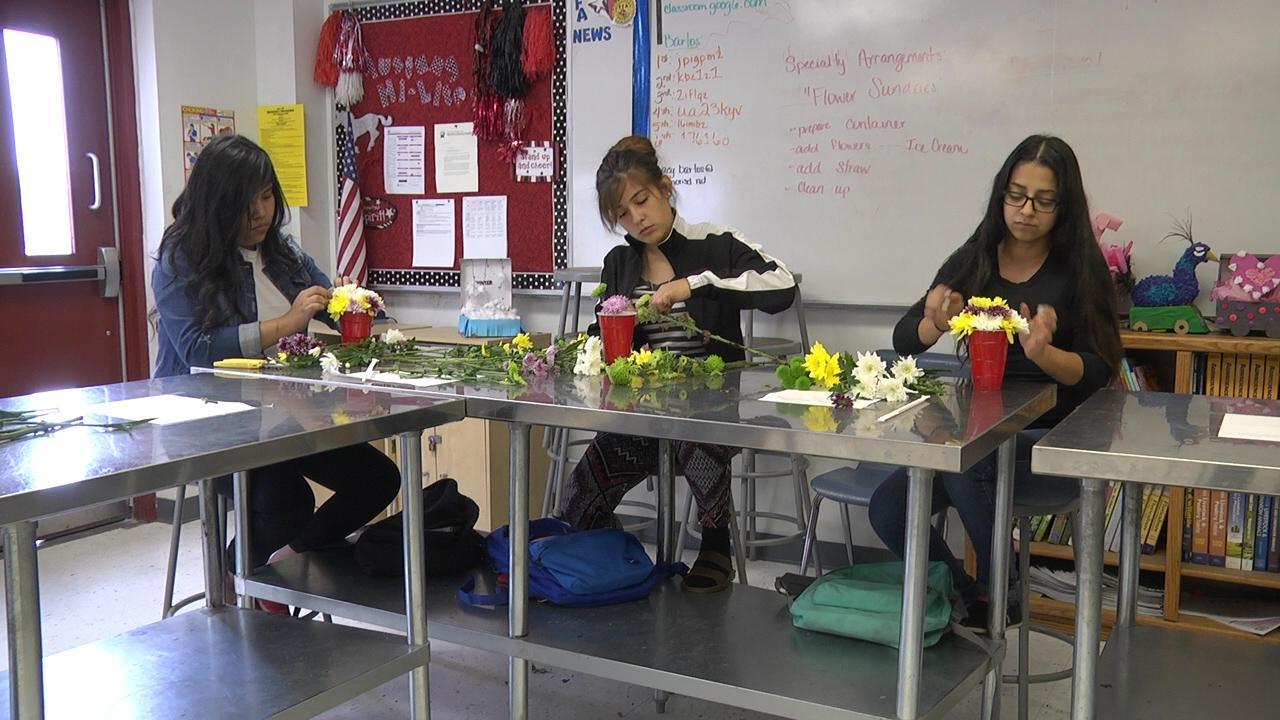 MSH floral students