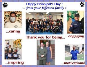 Principal Appreciation from Staff
