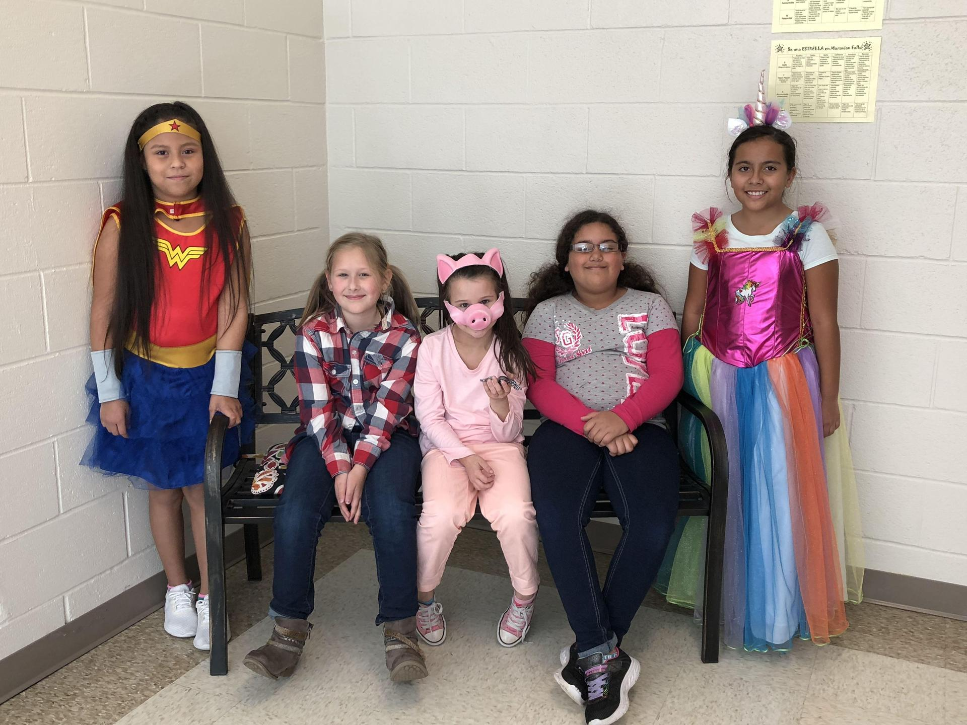 MFES students dressed up as favorite book characters.