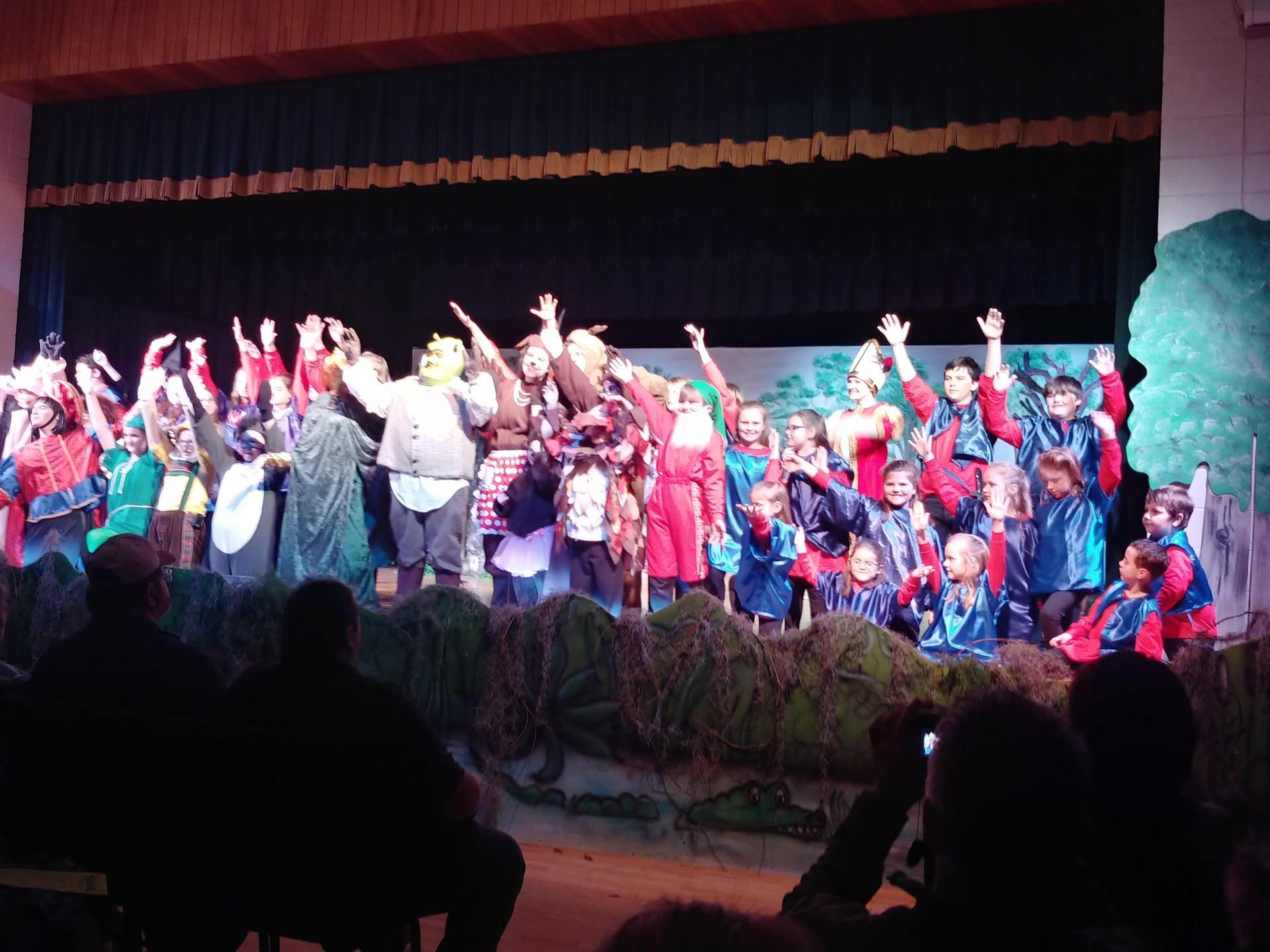 Full Cast of Children's Theater's Production of 'Shrek The Musical Jr.' in January 2018