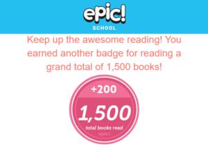 Ms. Green's class has read 1500 books!