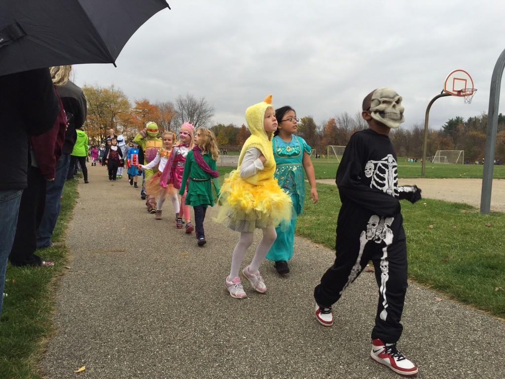 kids in costume parade