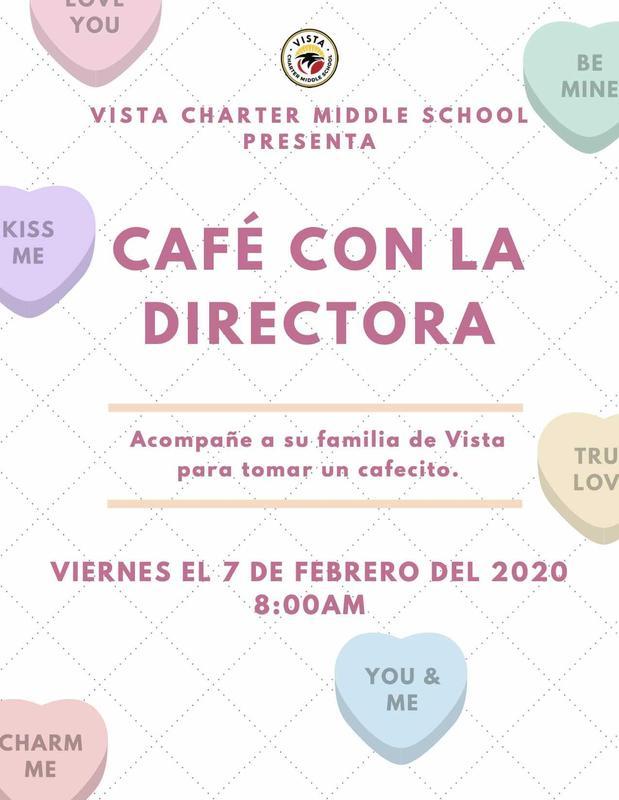 CAFÉ CON LA DIRECTORA flyer