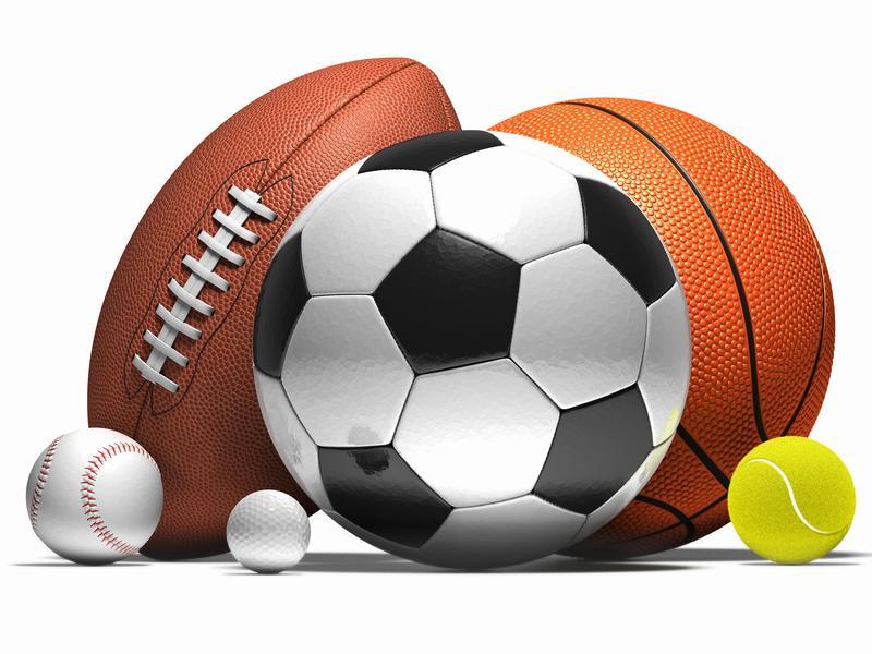 Image of sport equipment. Basketball, soccer,football,baseball, tennis ball