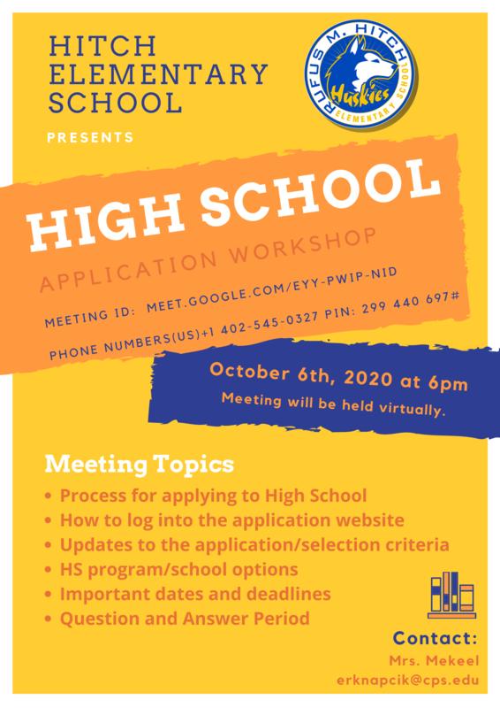 High School Application Workshop!